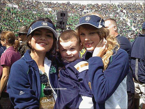 Article Selena Gomez  ~ Selena & Taylor swift a un Match de Football à Notre Dame   ~