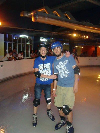 Moi et mon ami à la patinoire