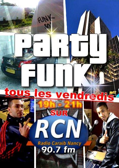 TOUS LES VENDREDIS DE 19H A 21H, C'EST PARTY FUNK SUR 90.7fm (à Nancy)
