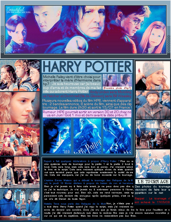 __■■■__A R T I C L E - O93___l____,________L E S - N O U V E A U T E S - D E - L A - P L A N E T E - H P_l,________■■■__ __■■■__{Déco l Pix l Texte by Me}l,_______lo________o_Harry Potter et Le Prince de Sang-Mêlé__ll_____________■■■__