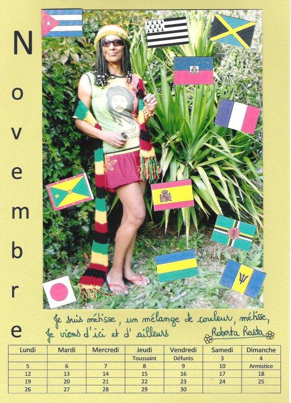 Novembre : Roberta Rasta, Métisse.......