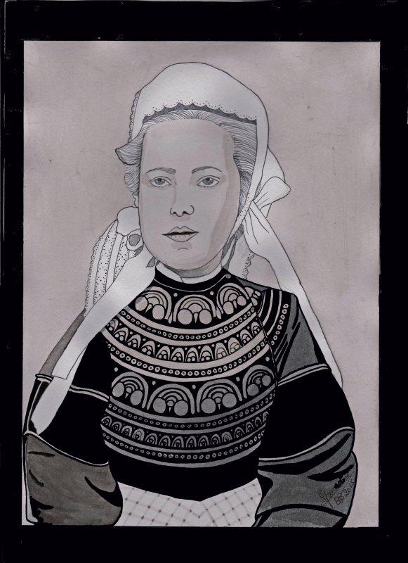 Jeune Bretonne début du XXè siècle