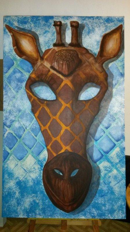 Masque pour Girafe Albinos