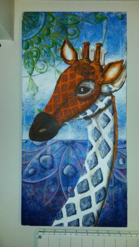 Girafe Albinos et son masque