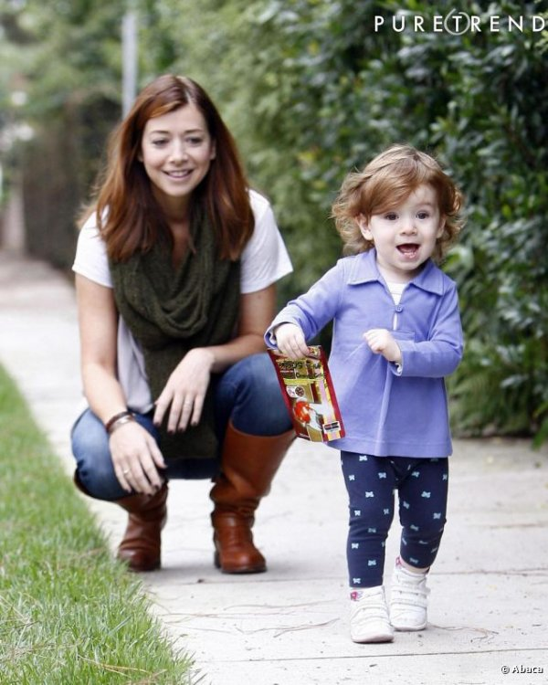 Satyana (2ans) fille de l'actrice Alyson Hannigan (How i met your mother,Buffy Contre Les Vampires)