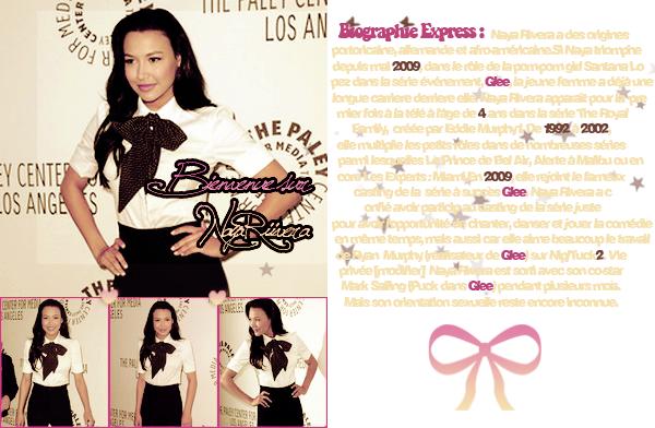 Bienvenue sur ta source consacrée à la belle Naya Rivera alias Santana Lopez !