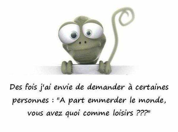 J'me pose des questions ! lol