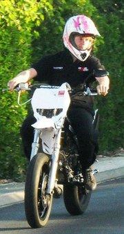Premier roulage de la moto, toujours le coq dessus