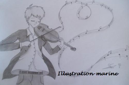 Violoniste dessin