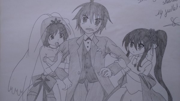 Dessin de trio