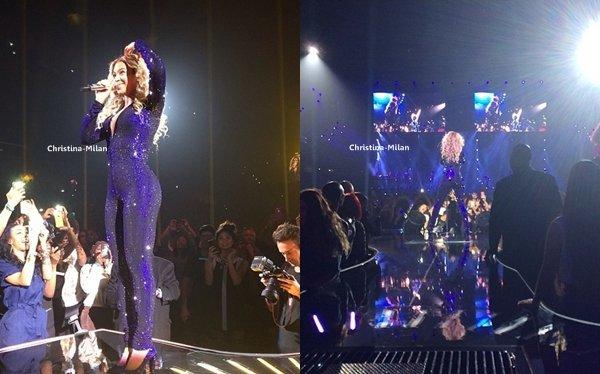 3 Décembre 2013// Christina était hier soir présente au concert de la belle Beyoncé