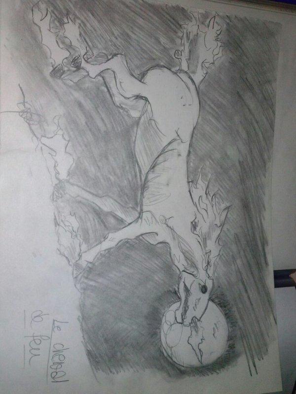 Femme tigresse + Cheval de feu