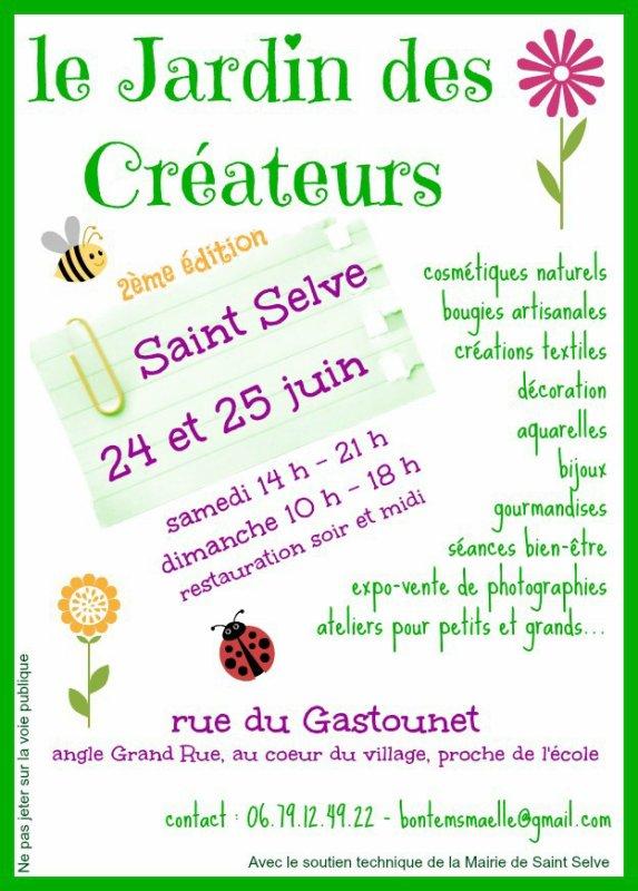 Marché du Jardin des Créateurs le 24 et 25 juin 2017