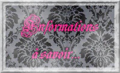 oO° Informations à savoir°Oo