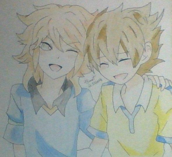 """"""" Entre nous c'est l'amitié Qui nous fais triompher ! De larmes et de sueur on bâtira tous nos rêves ! De sa foudre Inazuma nous protégeras sans trêve ! On gagnera le match pour arriver en final ! Pour marquer des buts on donneras tout, C'est normal ! """""""