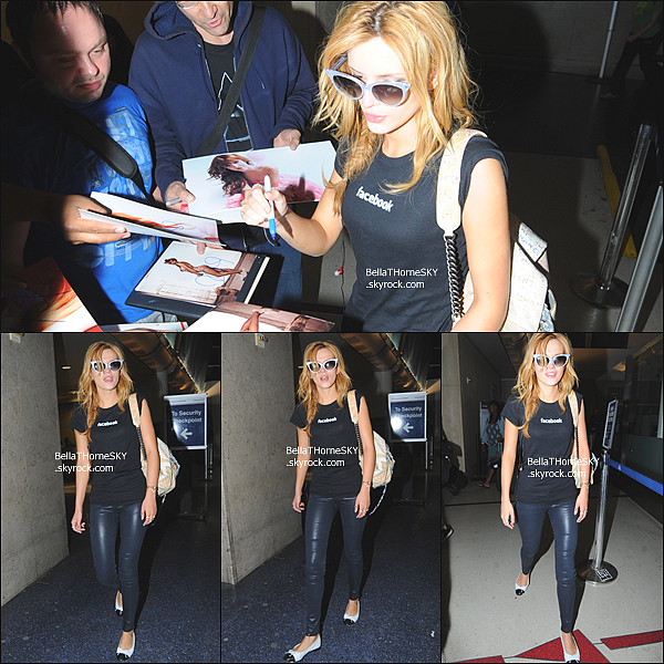 19/05/2014 : Bella a l'aéroport de Los Angeles.