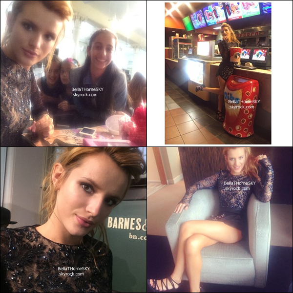 22/05/2014 (matin) : Bella s'est rendue à l'émission Live with Kelly and Michael à New York.  côté tenue : je n'aime pas sa robe mais je trouve que sa lui va bien. C'est un BOF ! Vos avis ?