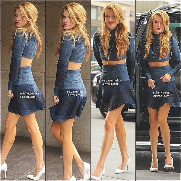 23/05/2014 : Bella arrivant pour l'émission Good Morning America pour faire la promo du film Blended. Je trouve sa tenue sublime j'adore ce type de tenue et surtout la couleur. Un gros TOP pour notre miss ! Vos avis?