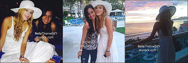 03/07/2014 : Bella est patie en vacances à Nuevo Vallarta (Mexique).