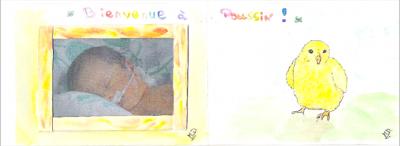 Dessin pour la naissance de Caroline -2008