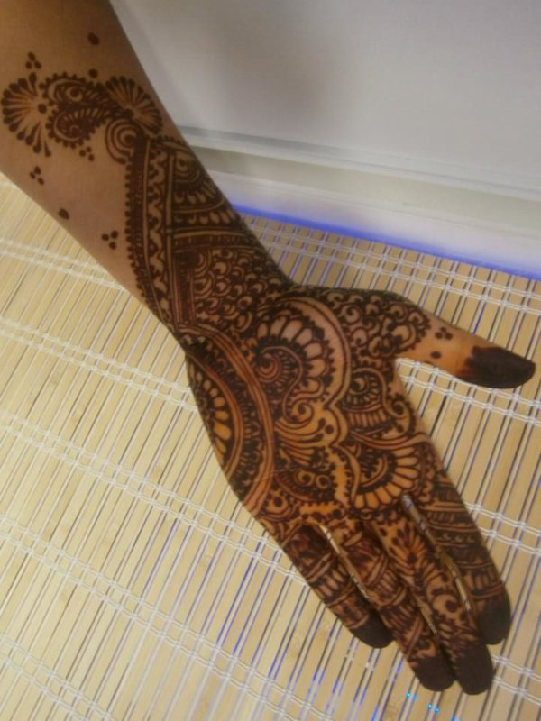 tatouage mariée henné: style mehndi....