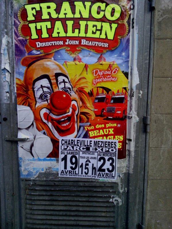 Affichage cirque Franco Italien