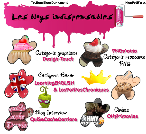 **[/c ] CATEGORIE BLOGS INDISPENSALBES    Les 12 blogs indispensables en collaboration avec MonPetitVrac. **