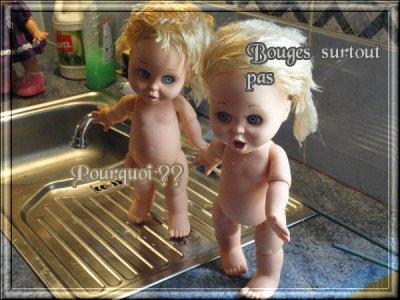 Les baby face est le bain