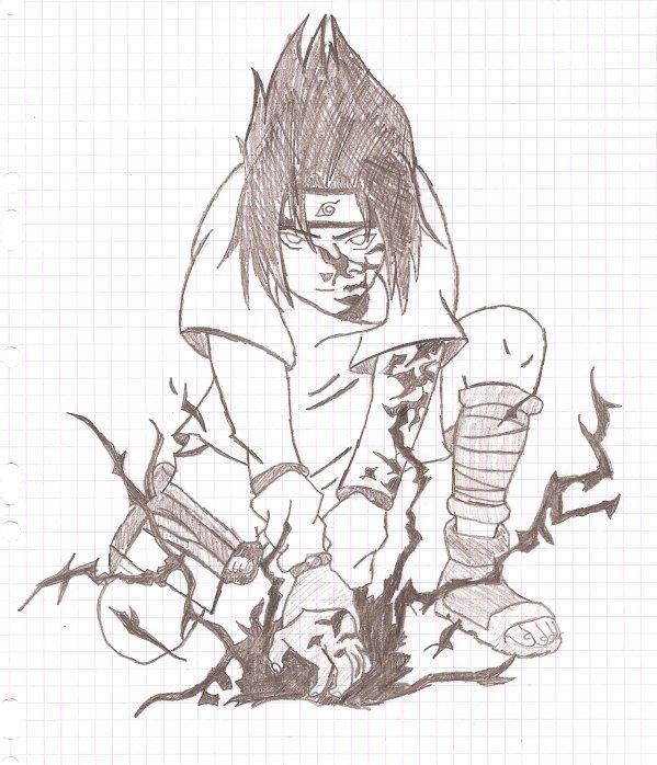 Un autre dessin cette fois sasuke c moi qui l 39 ai fait - Dessin naruto et sasuke ...
