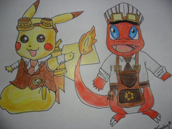 Pikachu et Salamèche c: