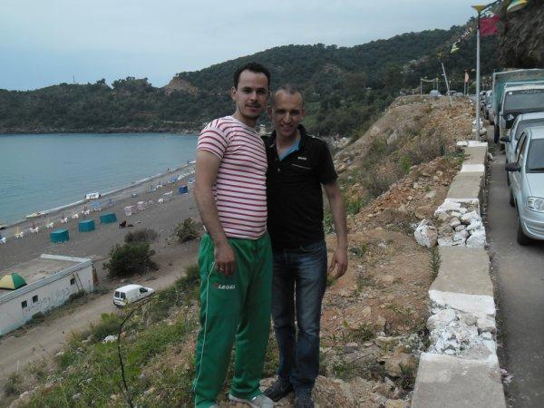 moi et zoubir a la plage de zyama a jijel