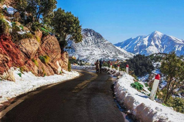 J'aime la beauté de la Kabylie l'hiver .