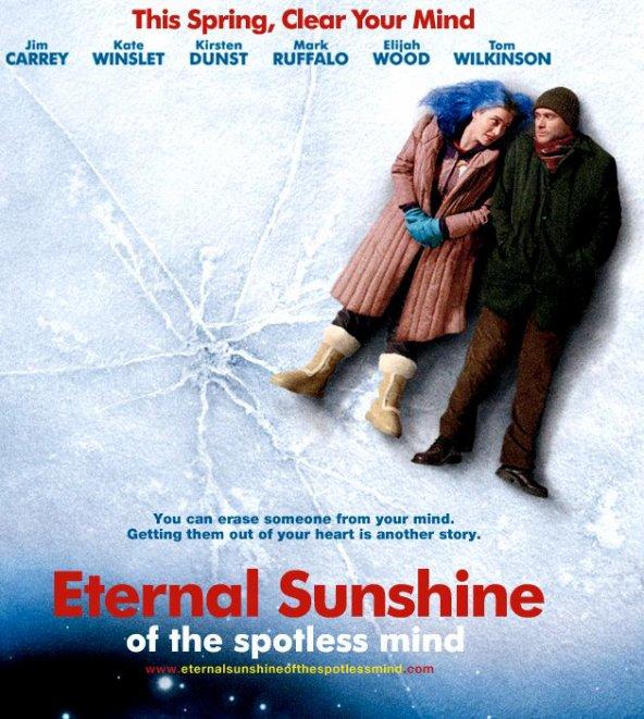 Eternal Sunshine of the Spotless Mind, mon troisième film préféré.