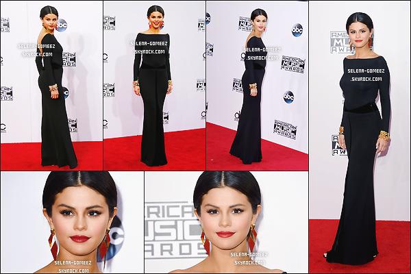 23/11/14: Selena Gomez sur le tapis rouge pour les 2014 American Music Awards.