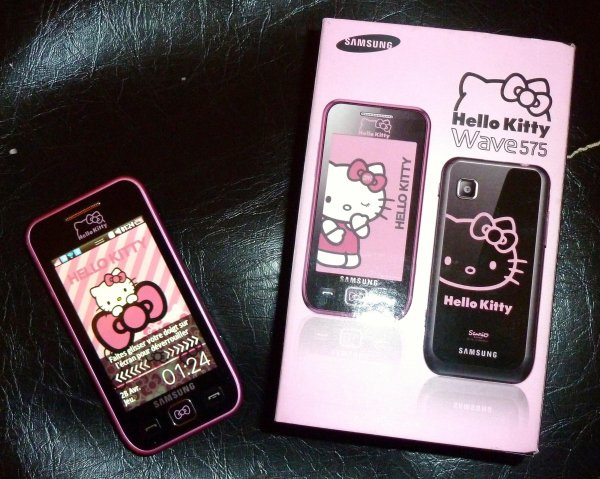 Mon new phone: Samsung Wave 575 Hello Kitty