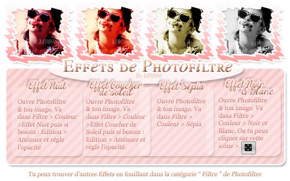 ♦ Effets de Photofiltre ♦