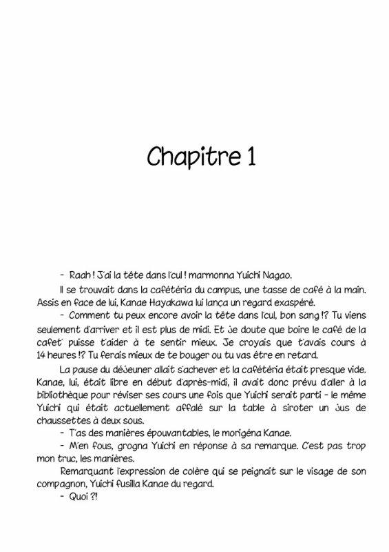 Un roman yaoi intéressent