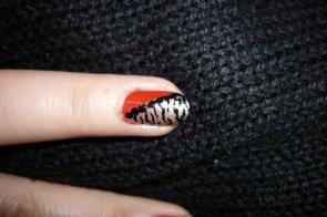 Nail art Tigre Blanc
