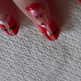 Nail Art Papa Noël