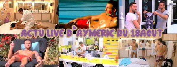Actu-live d'Aymeric de la semaine