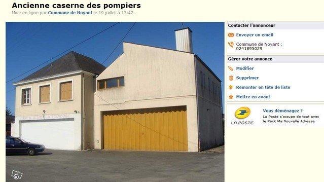 NOYANT ( 49 ) : CASERNE DE POMPIER A VENDRE SUR LE BON COIN