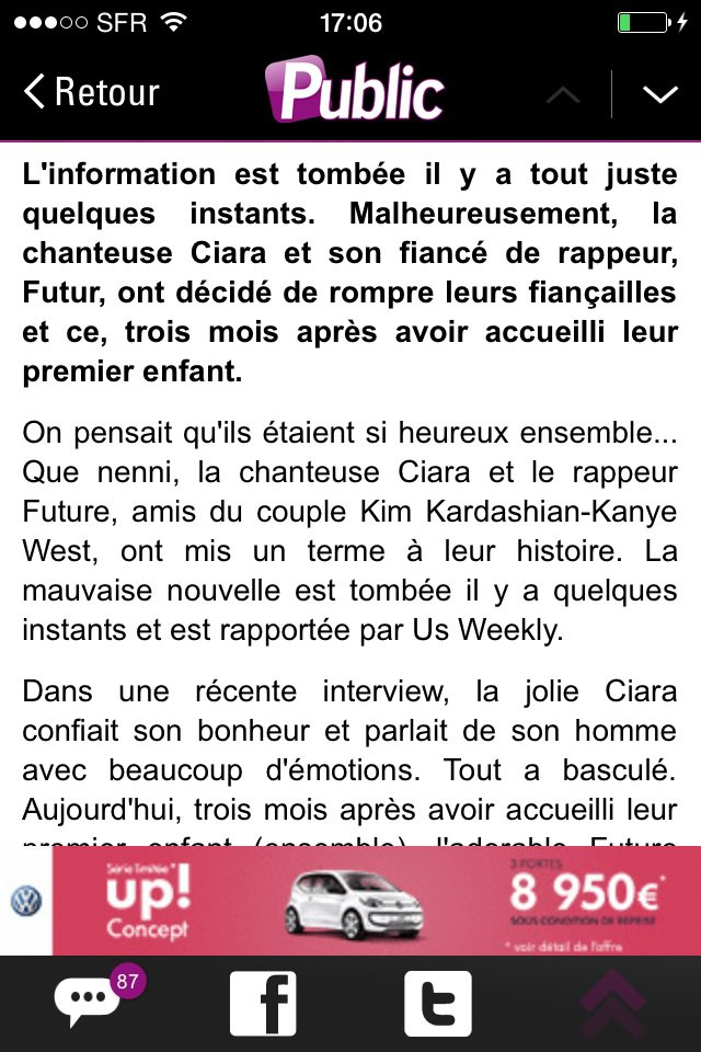 Preuve pour Ciara et Future