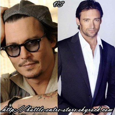 Johnny Depp ou Hugh Jackman ?