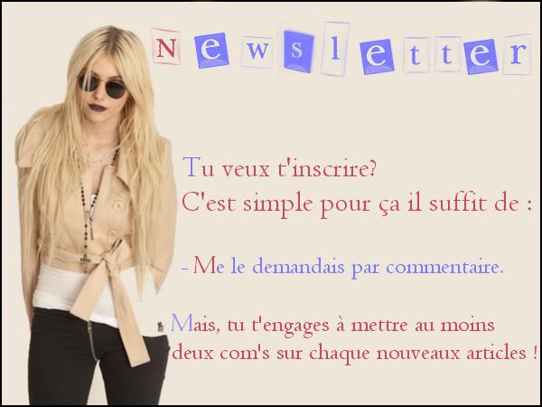 ✉ Newsletter ✉