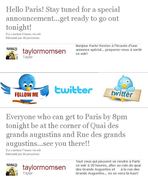 Tweets de Taylor. Han, ça donne trop envie de savoir !!
