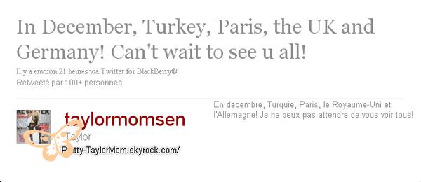 Tweets Taylor.