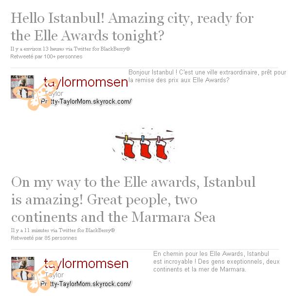 Deux tweets de Taylor.