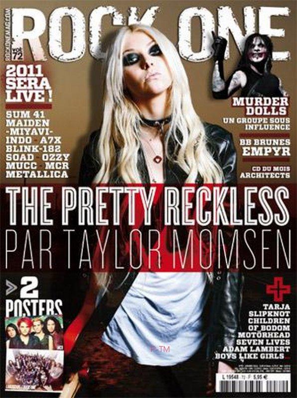 """Taylor fera la couverture du magazine français """"Rock On"""", édition Janvier."""