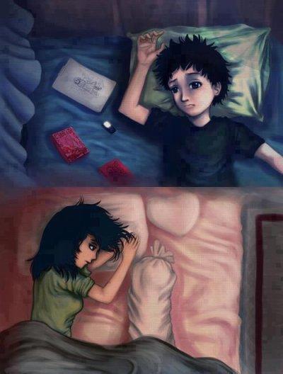 « Peut importe la distance, l'amour est plus fort que tout ».