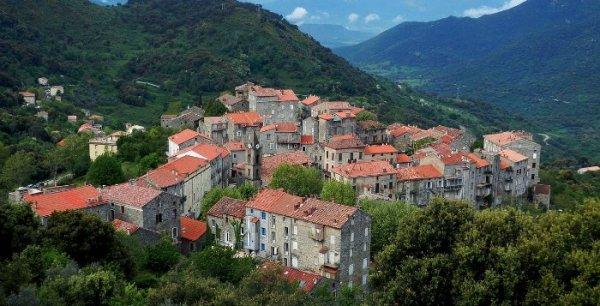 LE VILLAGE DE SAINTE LUCIE DE TALLANO CAPITALE DE L'HUILE D'OLIVE CORSE